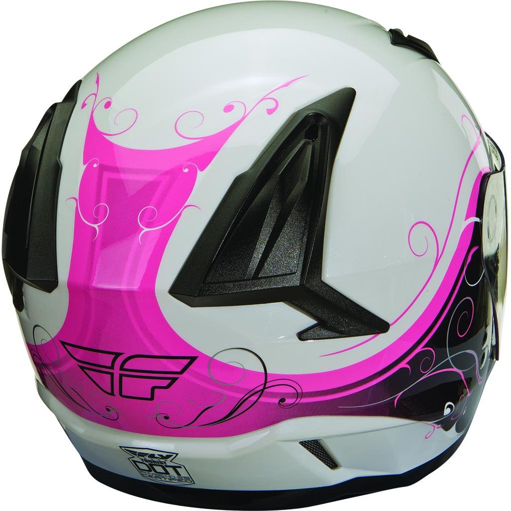 FLY Tourist Cirrus Modular Motorcycle Helmet White//Blue Choose Size