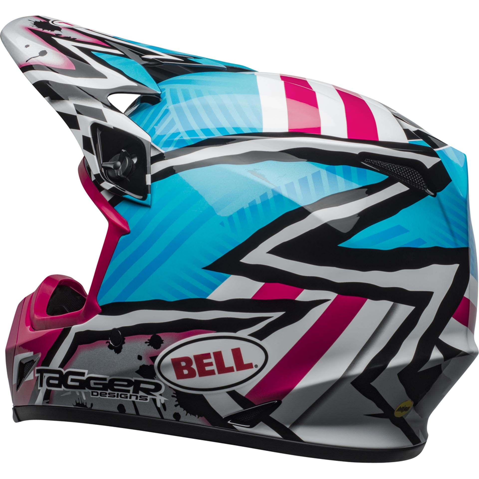 Tagger Asymmetric Gloss Blue//Pink, X-Large Bell MX-9 MIPS Off-Road Motorcycle Helmet