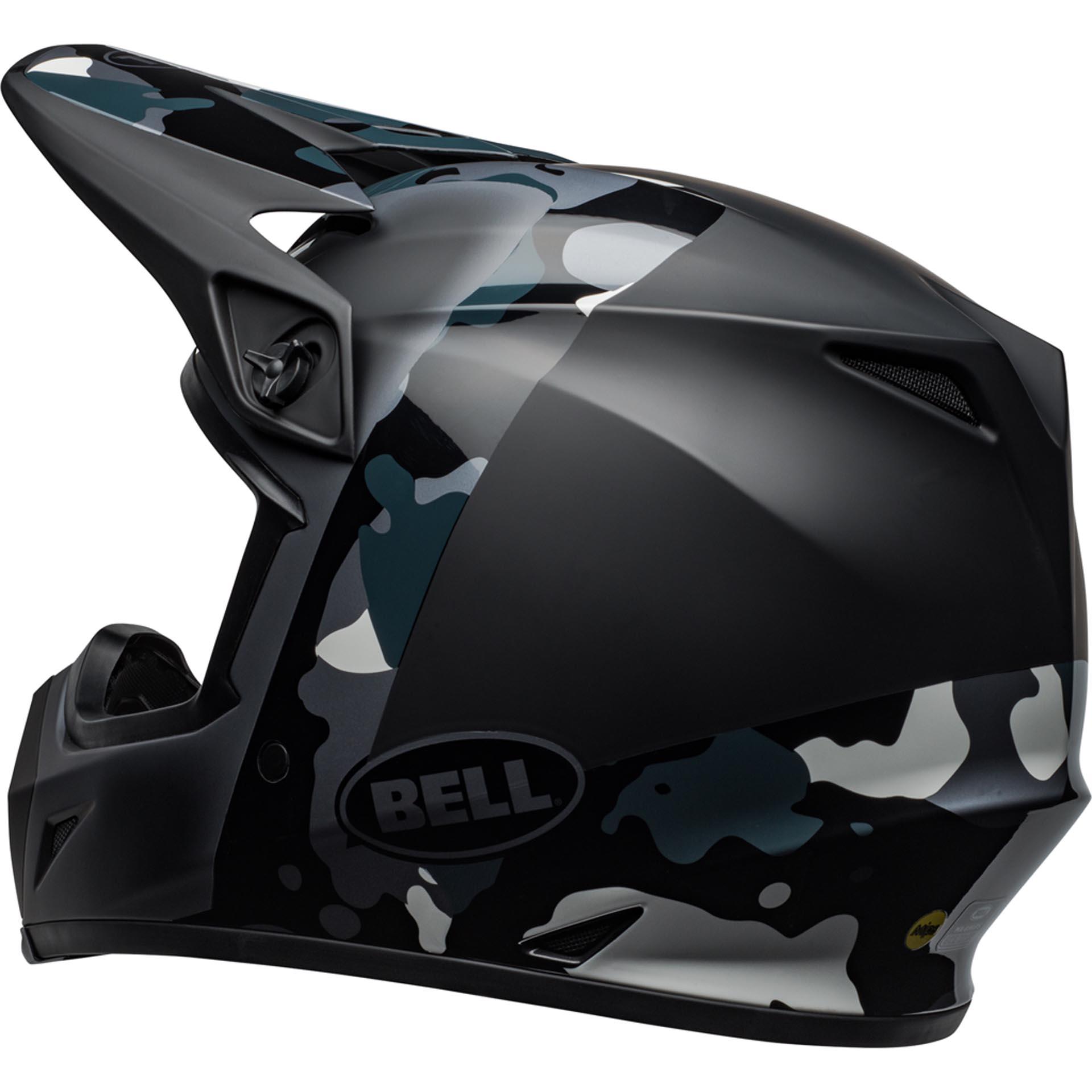 Bell MX-9 MIPS Off-Road Motorcycle Helmet Presence Matte//Gloss Black Titanium Camo, Large