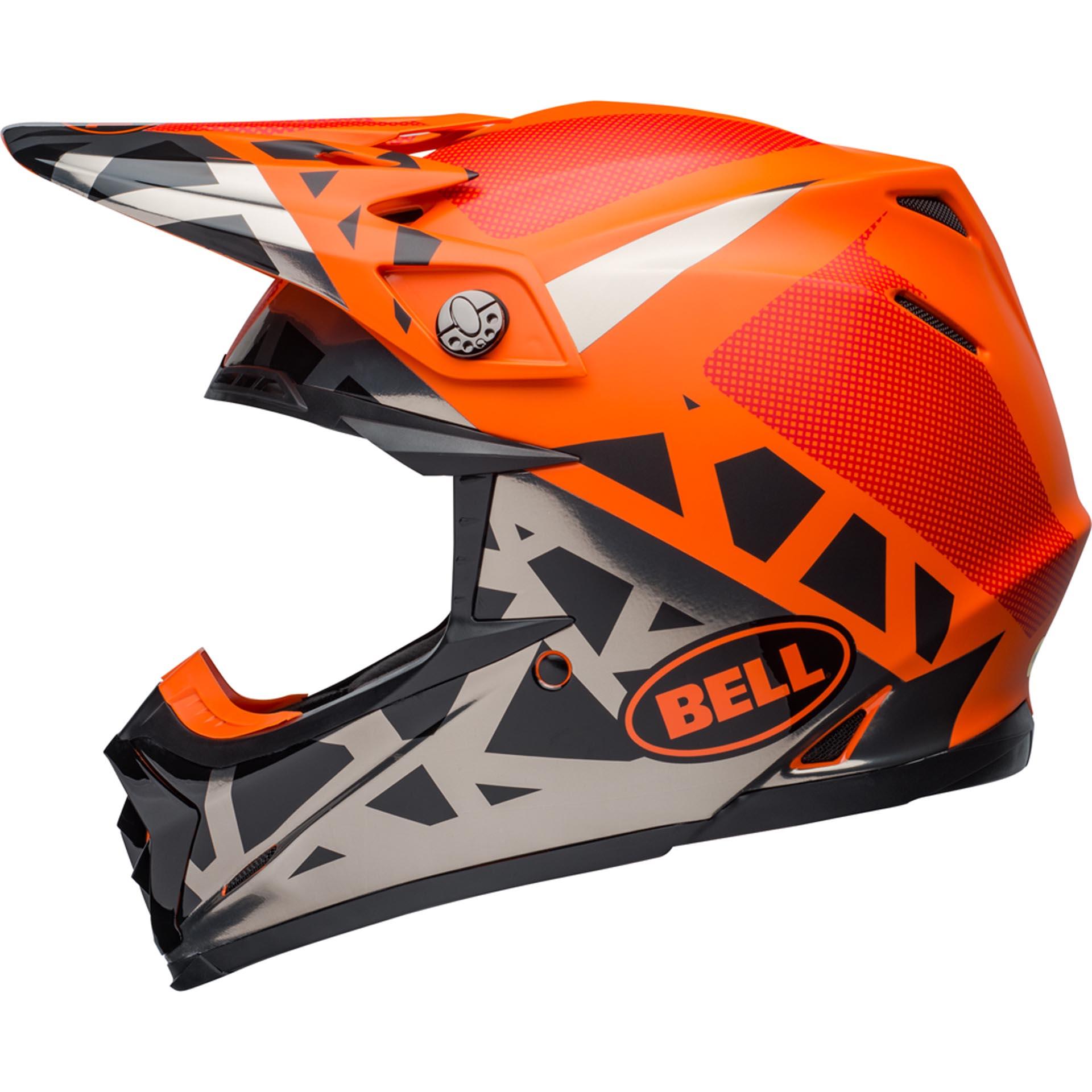 Bell Replacement Visor for Moto-9 Tremor Helmet Orange Black