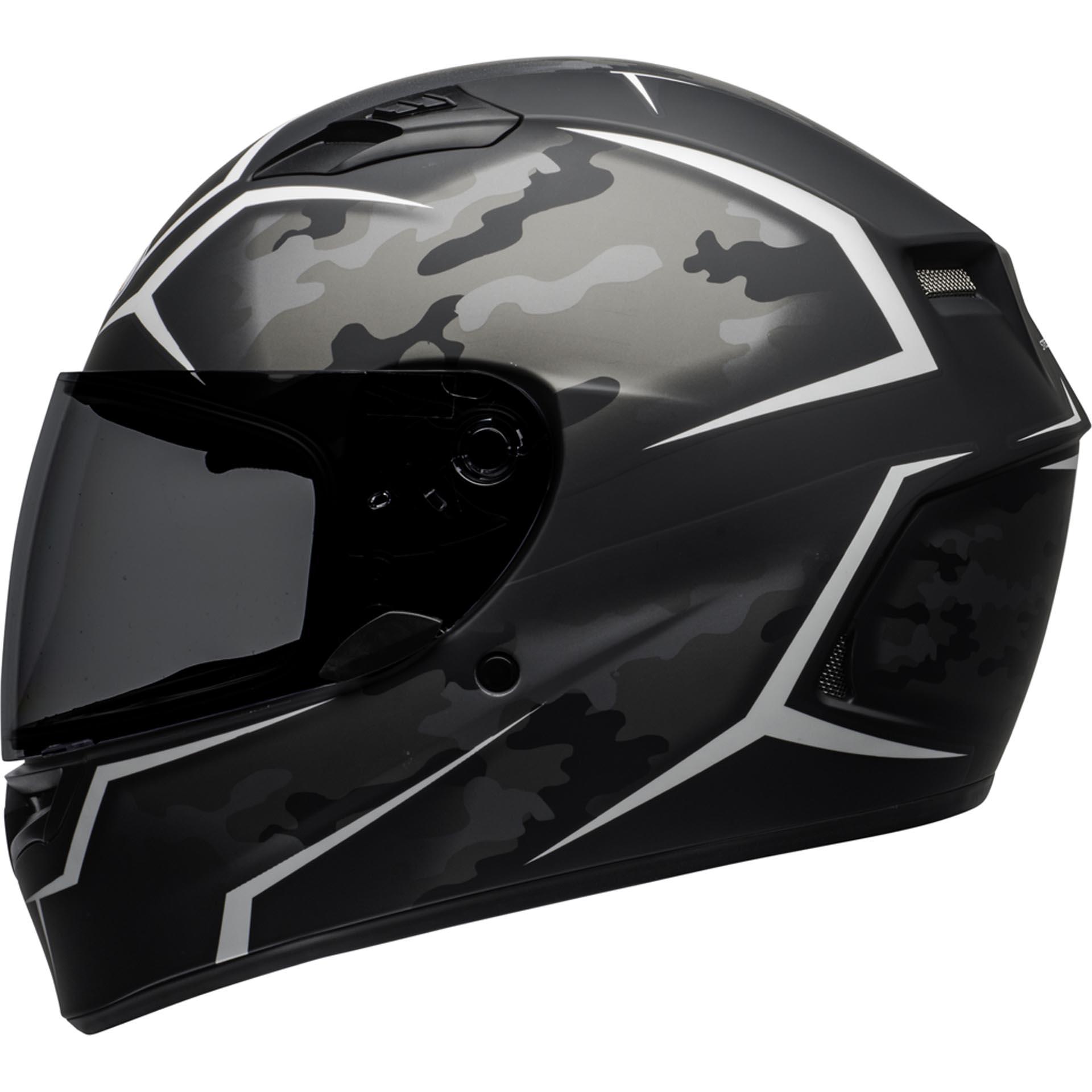 Bell Motorcycle Helmet >> Bell Qualifier Motorcycle Full Face Helmet Stealth Camo Matte Black White